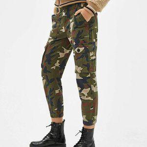 Bershka 2 Camouflage Skinny Cargo Trousers Pants